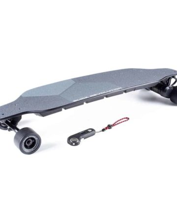 Flex-E 2.0 Electric Skateboard with slick wheels and controller