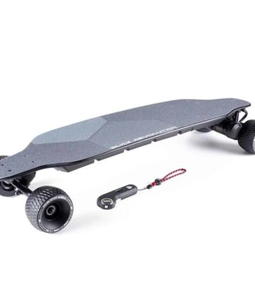 Flex-E 2.0 Electric Skateboard with rough stuff wheels and controller