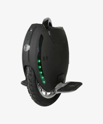 King Song KS-18 black electric unicycle front angle view