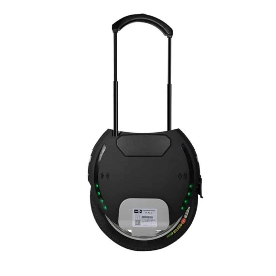 King Song KS-18 black electric unicycle side view with telescopic handle
