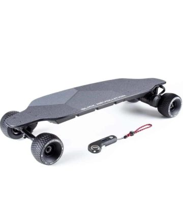 Urban 80 electric skateboard with rough stuff wheels and controller