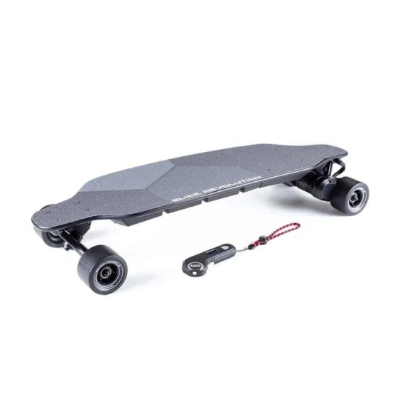 Urban 80 electric skateboard with slick wheels and controller