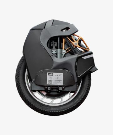 KingSong S18 Black Electric Unicycle - side view