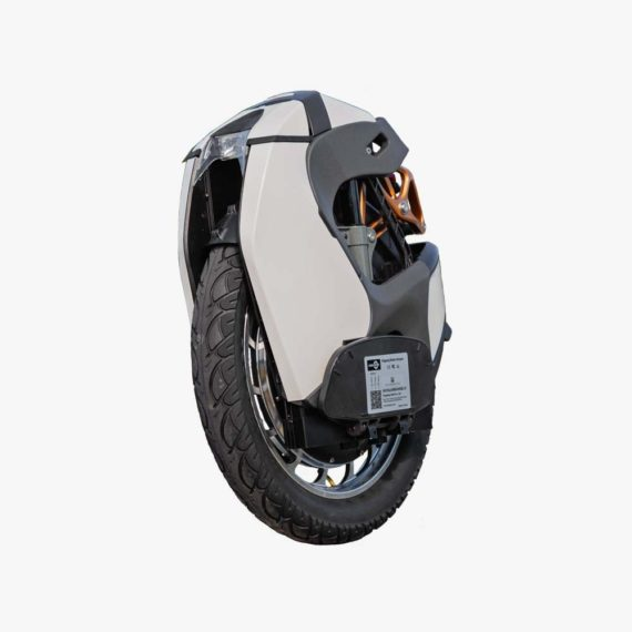 KingSong S18 White Electric Unicycle - front side view