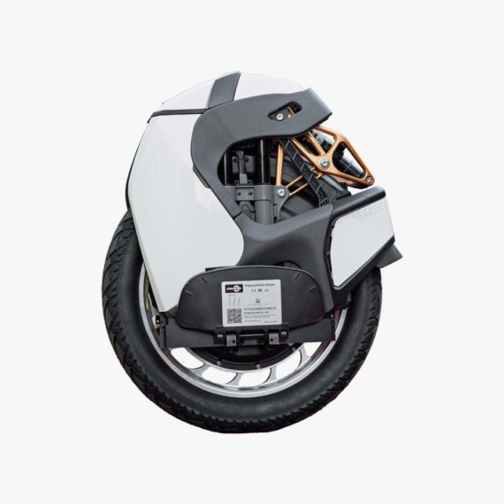 KingSong S18 White Electric Unicycle - side view