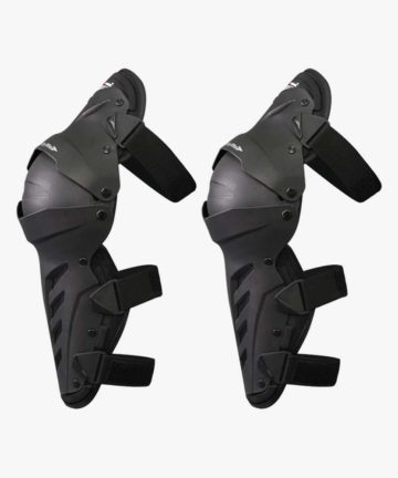 Dual axis knee guard black - side view