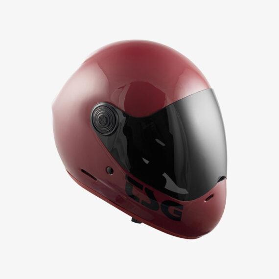 TSG Pass Helmet Gloss Oxblood - side view