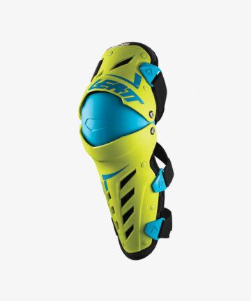 Leatt Knee-Shin Guard Dual Axis Lime/Blue Left