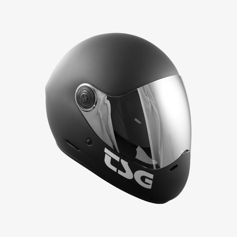 TSG Pass Helmet Matt Black - side view