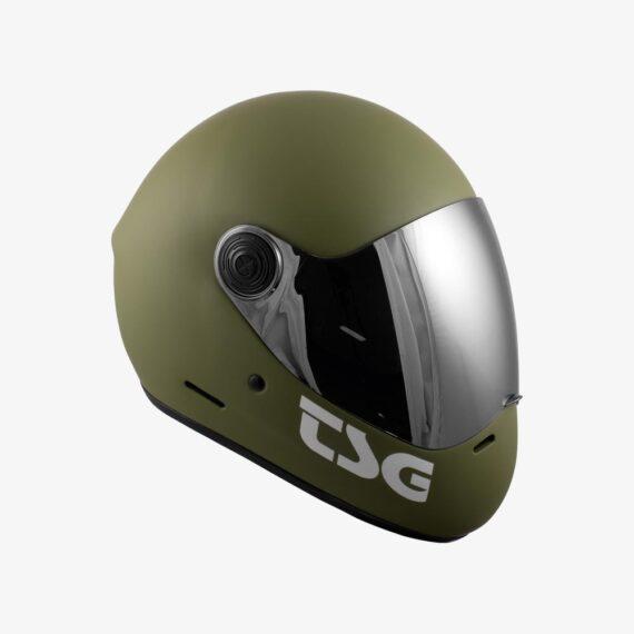 TSG Pass Helmet Matt Olive - side view