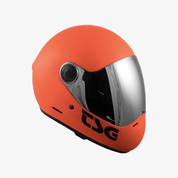TSG Pass Helmet Matt Orange- side view