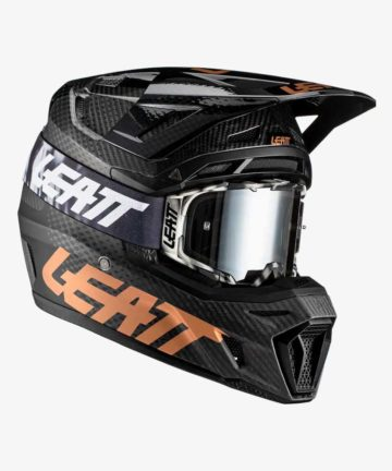 Leatt Moto 9.5 Carbon V21 Helmet and Goggles Kit - front right