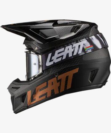 Leatt Moto 9.5 Carbon V21 Helmet and Goggles Kit - left