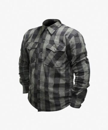 RJAYS Regiment Flannel Shirt - Grey and Black