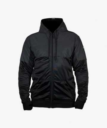 Lazyrolling Armored 2021 Black on Black Performance Hoodie front