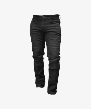Lazyrolling Armored Jeans bent legs front