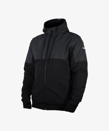 Lazyrolling 2021 Armored Black on Black Reflective Jacket front angle